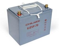 Chilwee 6-EVF-70 - Тяговый аккумулятор, GEL - фото 14042